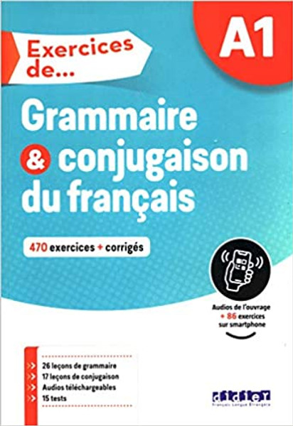 French textbook  Exercices de Grammaire et conjugaison du francais - A1