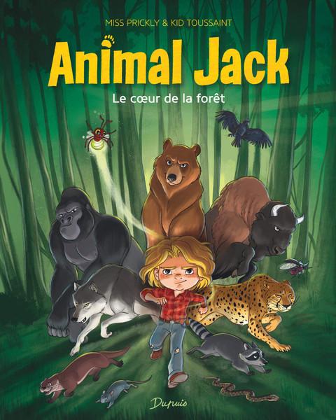 French comic book Animal Jack T1 Le coeur de la foret
