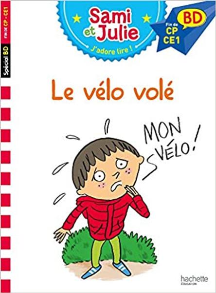 French children's book Sami et Julie BD: Le velo volé (Fin de CP - CE1)
