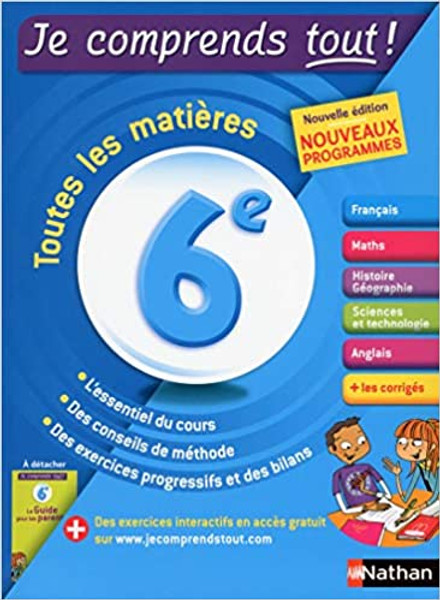 French textbook Je comprends tout 6e