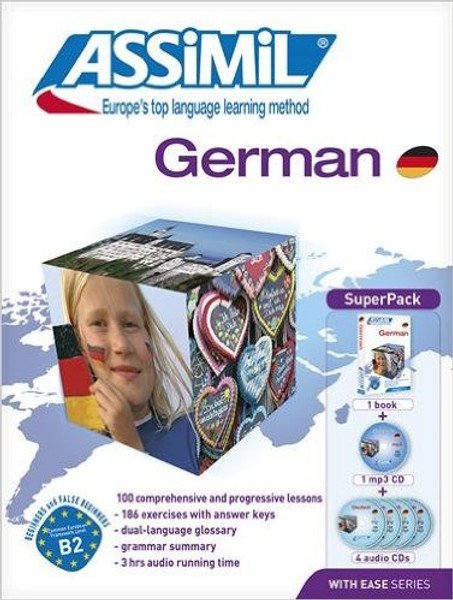 German with ease - Super pack (book + 1 cd Mp3 + 4 audio CD)