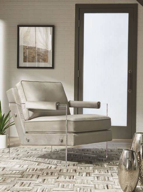 Avonley Taupe Accent Chair