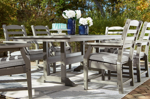 Visola Gray 7 Pc. Dining Set with 6 Chairs