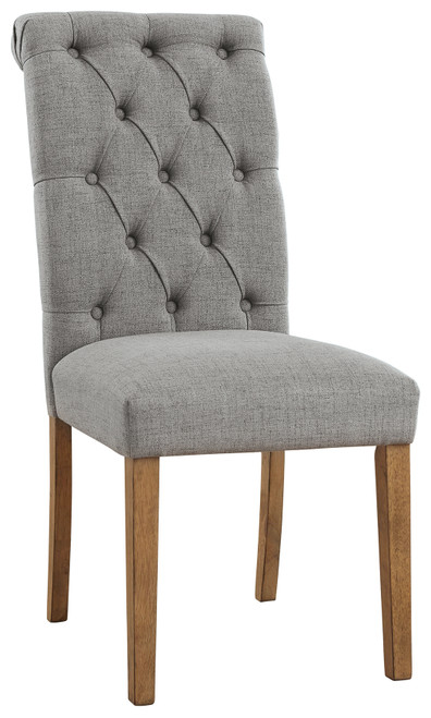 Harvina Gray Dining Upholstered Side Chair (Set of 2)