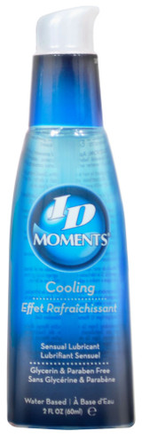 Use ID Moments Cooling with ID Moments Warming to create a truly unique sexual experience. Features: natural feel. Latex condom compatible. Water based personal lubricant. Enhances masturbation.