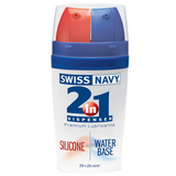 Swiss Navy® allows you to experience the best of both worlds. The finest silicone and water based lubricants are right at your fingertips whenever and wherever the mood takes you.