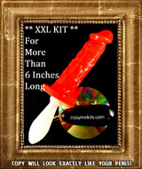 XXL Penis Casting Kit RED SILICONE Handle Grip Vibe