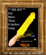 XXL Penis Casting Kit YELLOW SILICONE Handle Grip Vibe