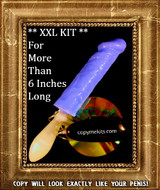 XXL Penis Casting Kit BLUE SILICONE Handle Grip Vibe
