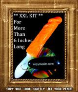 XXL Penis Casting Kit ORANGE SILICONE Handle Grip Vibe