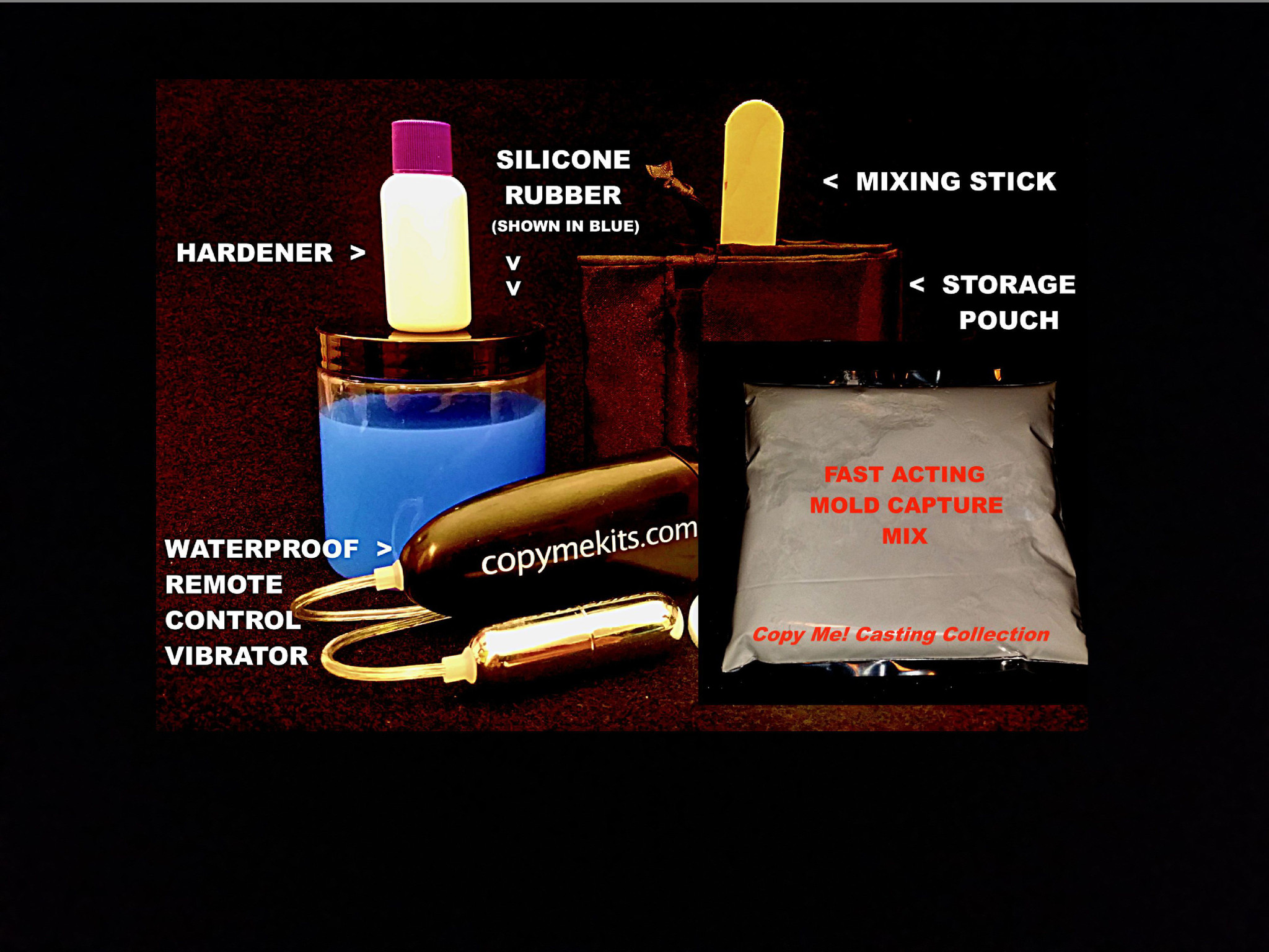 Penis Casting Kit - In Home, DIY REFILLS