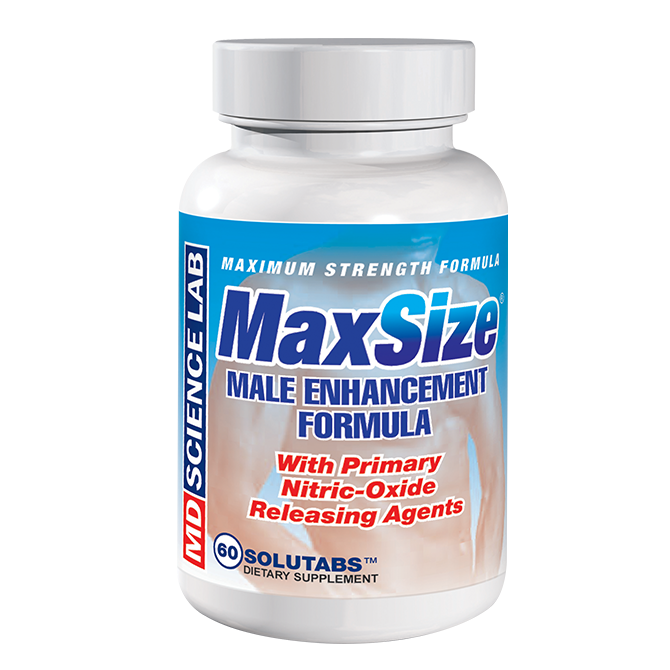 Now with primary nitric-oxide releasing agents, MaxSize™'s formula engorges and enlarges penile erectile tissues to contain more blood during erection. For best results, take 2 Caplets 45 minutes before intimate activity. Relish your increased male enhancement!