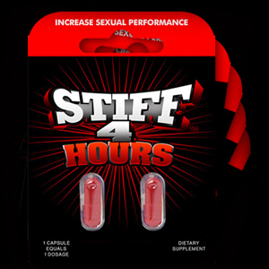 * Stiff 4 Hours -  HAS BEEN DISCONTINUED BY MANUFACTURER - Check out  MAX STAMINA by M.D. Science Lab as replacement
