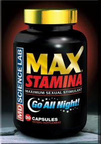 MaxStamina™ is a quantum leap in sexual enhancement products. There is no competition. MaxStamina™ is a synergistic blend of sexual enhancing herbs unlike any other supplement. MaxStamina™ is designed to increase arousal and passion, boost libido, and maximize stamina! Only the highest grade, the most advanced and best researched herbs and herbal extracts are used. The bottle contains 30 capsules.