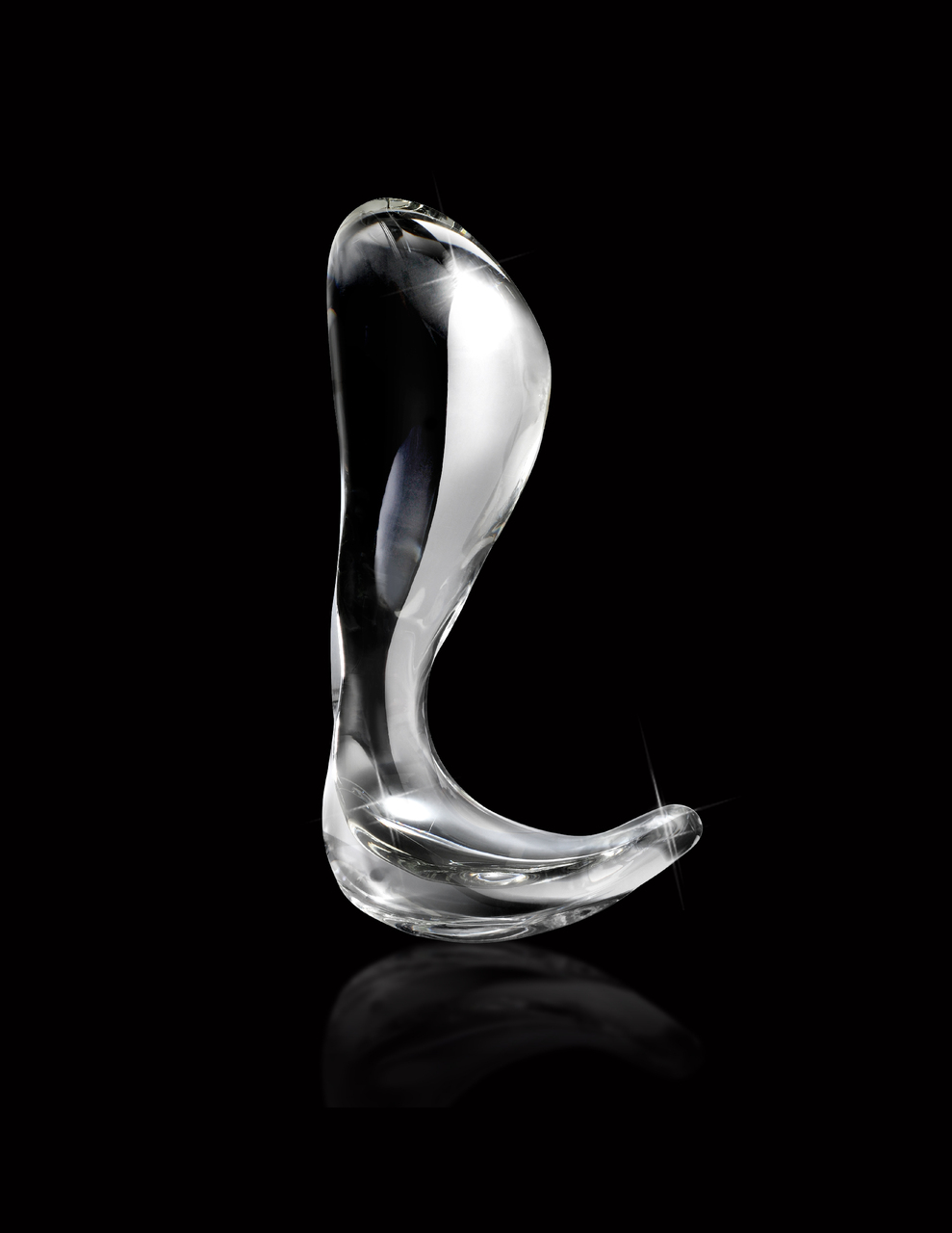 Icicles 45 - Hand Blown Glass Butt Plug - Clear - Copy Me -9171