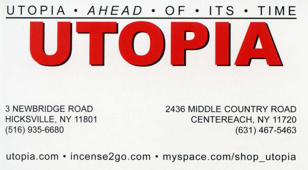 UTOPIA  - Suffolk, N.Y. - (Centereach)