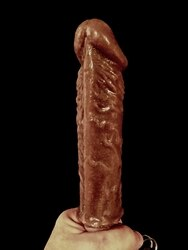 XXL Penis Casting Kit DARK SKIN SILICONE Handle Grip Vibe