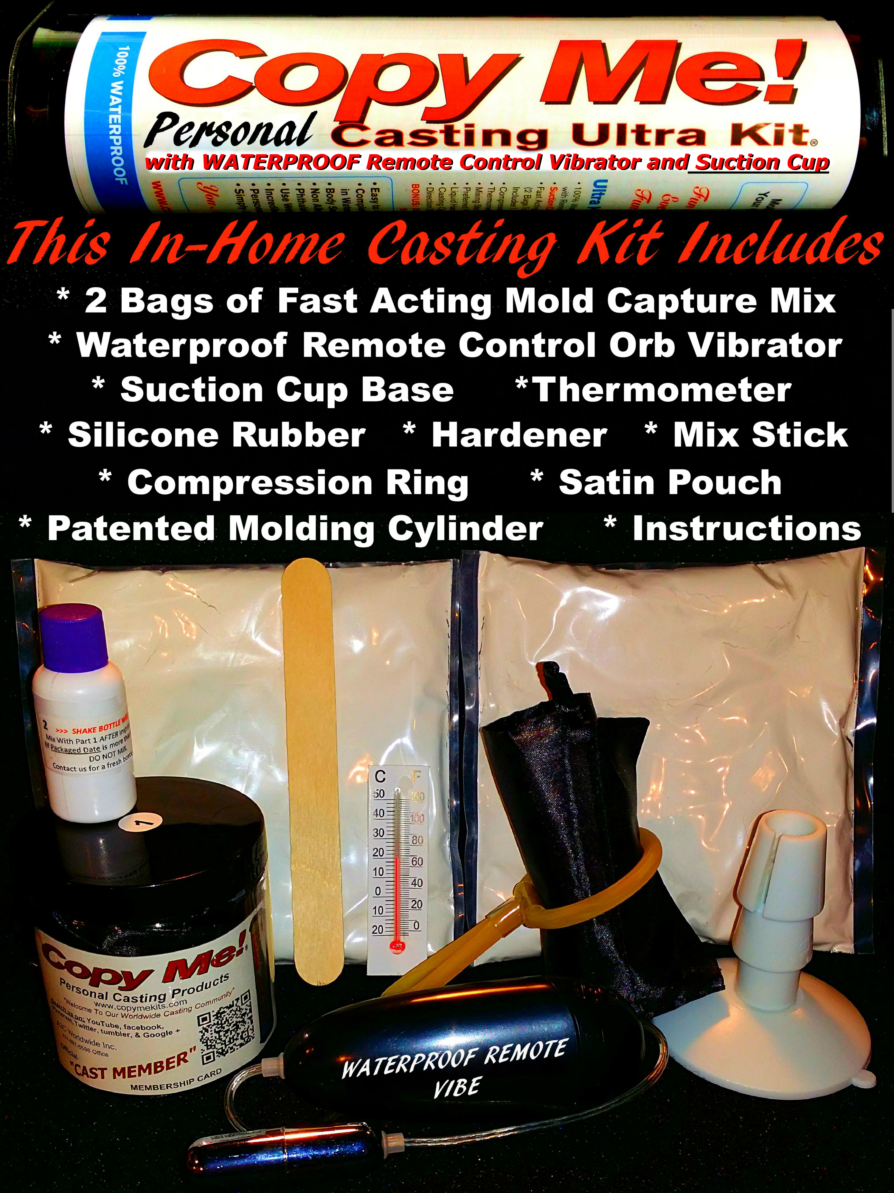 XXL Penis Casting Kit DARK SKIN SILICONE Suction Cup Vibe