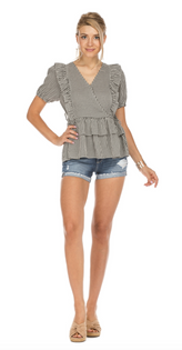 Checker Tiered Top