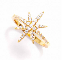 Crystal Starburst Ring