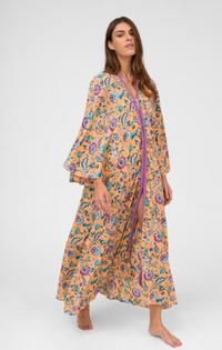 Indian Kimono, Cream Floral