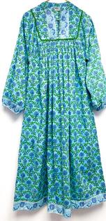 Caftan Dress, Hydrangea