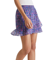 Flores Crinkle Mini Skirt