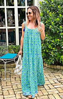 Tiered Maxi Dress, Hydrangea