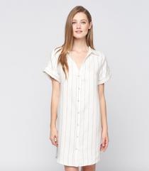 Stripe Button Down Dress