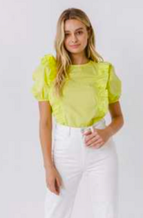 Lime Puff Slv
