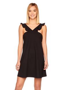 Ruffle V Strap Dress