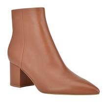 Jarli Bootie, Brown Leather
