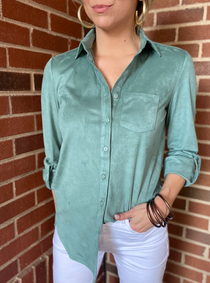 Faux Suede Polo, Patina