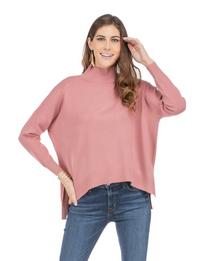 Rose Mock Neck Sweater
