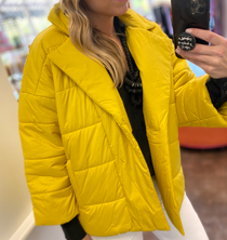Notch Collar Quilted Jacket
