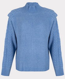 Azure Cable Sweater