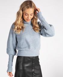 High Cuff Azure Sweater