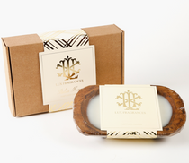 Italian Linen 3 Wick Bowl Gift Box Candle