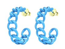 Blue Painted Petite Chains