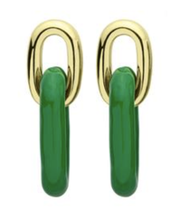 Green  Small Shakedown Earrings