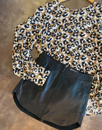 Simon Leather Skirt
