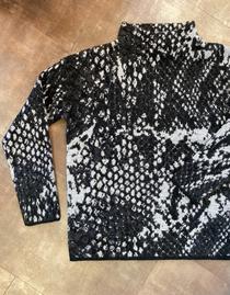 Printed Mockneck Sweater