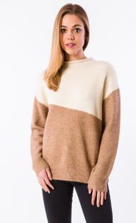 Scarpa Sweater, Ecru/Camel