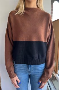 Frances Color Block Sweater