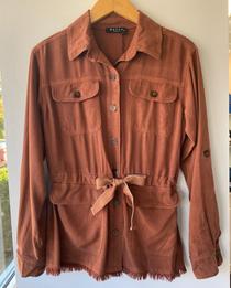 Cognac Button Down Jacket