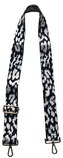 "Adjustable 2"" Strap, Blk/Wht Leopard"