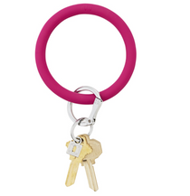 Big O Silicone Key Ring - Fuchsia