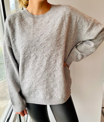 Clyde Leo Sweater, Heather Grey