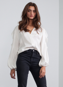 Claire Solid Top, Ivory