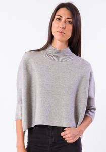 Aja Sweater, Heather Grey